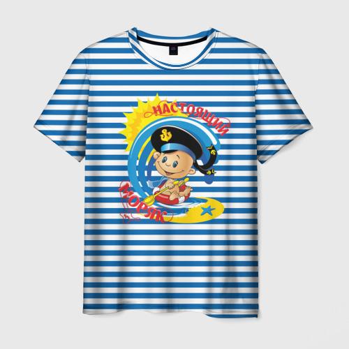 Мужская футболка 3D  Фото 01, Настоящий Моряк