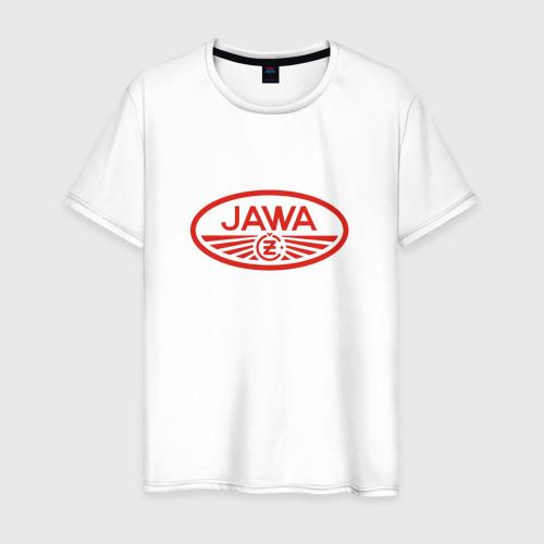 Мужская футболка хлопок Мотоцикл Jawa логотип Фото 01