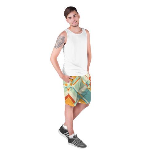 Мужские шорты 3D  Фото 03, Цветные прямоугольники