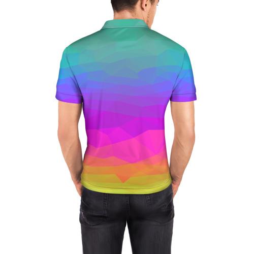 Мужская рубашка поло 3D  Фото 04, радуга