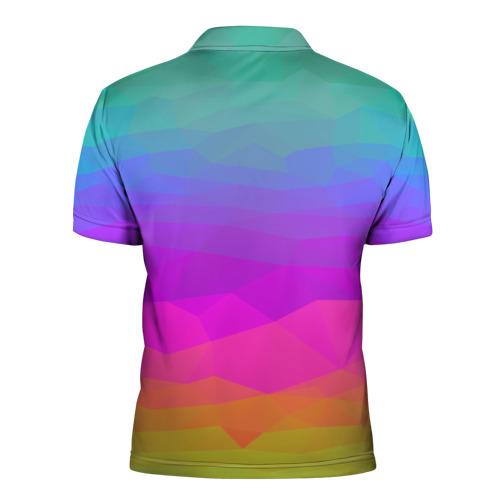 Мужская рубашка поло 3D  Фото 02, радуга