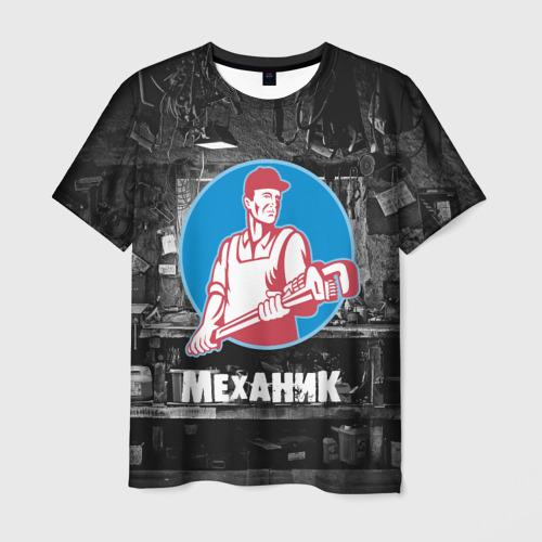 Мужская футболка 3D  Фото 03, Механик