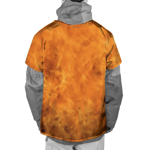 Накидка на куртку 3D  Фото 02, Череп в огне, байк