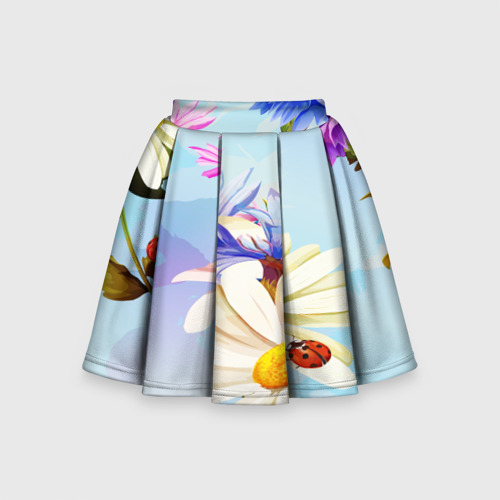 Детская юбка-солнце 3D Flowers