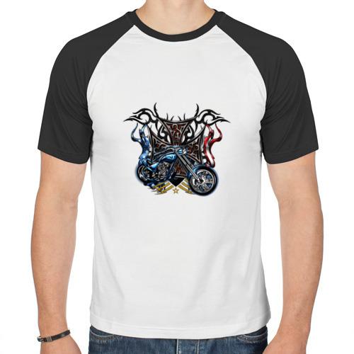 Мужская футболка реглан  Фото 01, Крутой Харлей