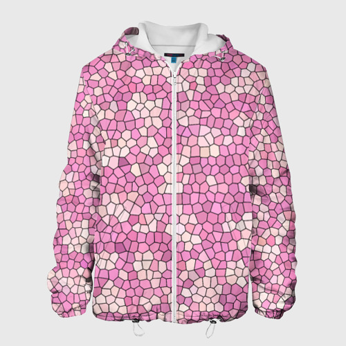 Мужская куртка 3D  Фото 01, Pink mosaic