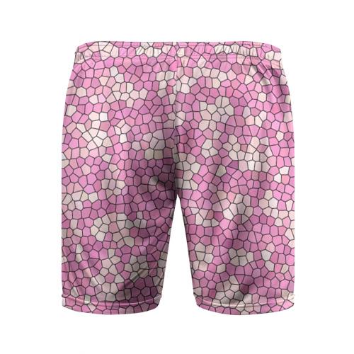 Мужские шорты 3D спортивные  Фото 02, Pink mosaic