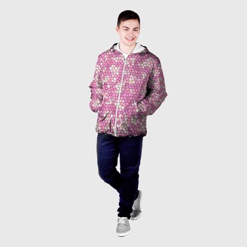 Мужская куртка 3D  Фото 03, Pink mosaic