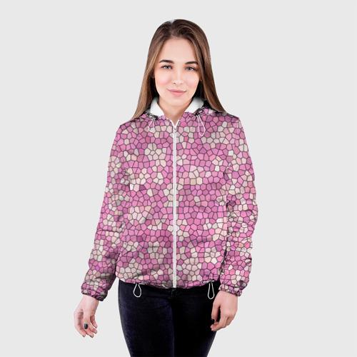 Женская куртка 3D  Фото 03, Pink mosaic