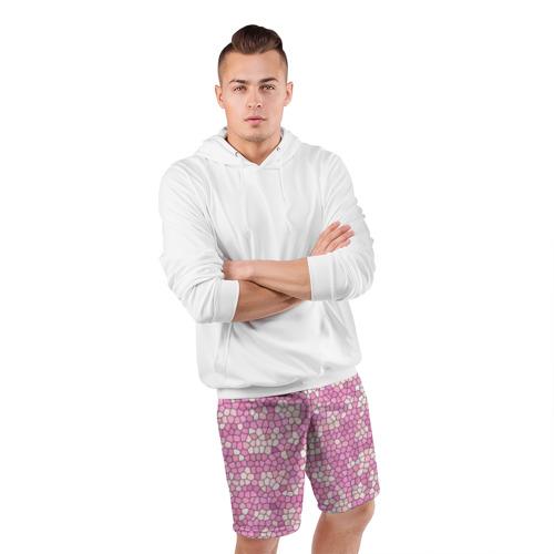 Мужские шорты 3D спортивные  Фото 05, Pink mosaic