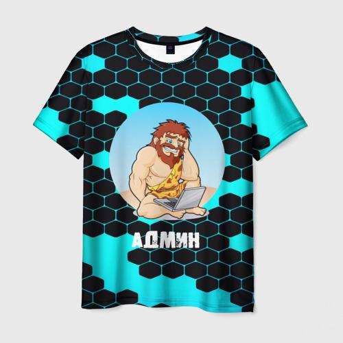 Мужская футболка 3D Админ