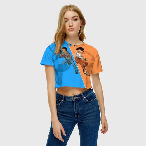Женская футболка 3D укороченная  Фото 04, Half-Portal