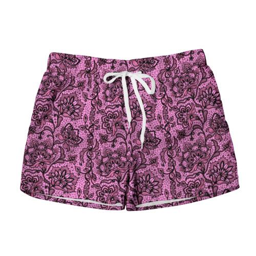 Женские шорты 3D Розовое кружево