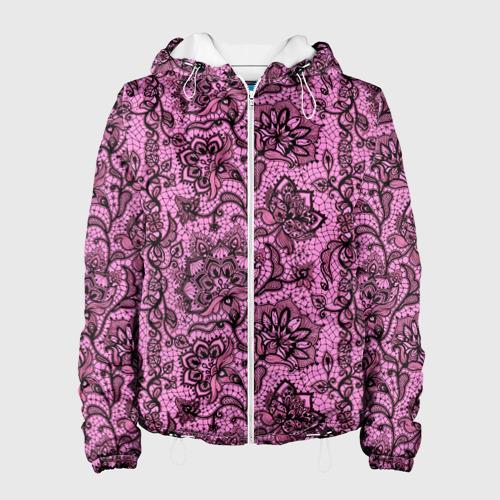 Женская куртка 3D  Фото 01, Розовое кружево