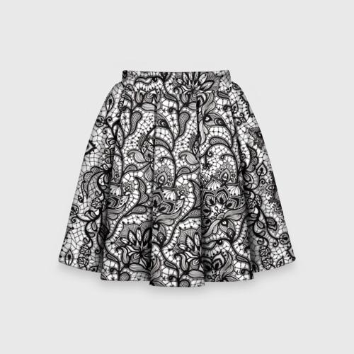 Детская юбка-солнце 3D Кружево