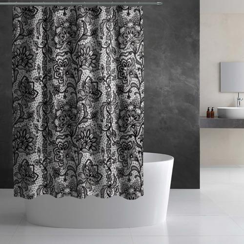 Штора 3D для ванной Кружево Фото 01