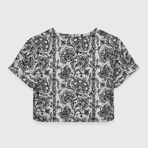 Женская футболка 3D укороченная  Фото 02, Кружево