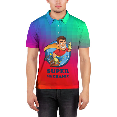 Мужская рубашка поло 3D  Фото 03, Super Mechanic