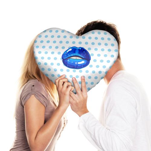 Подушка 3D сердце  Фото 03, Winter lips