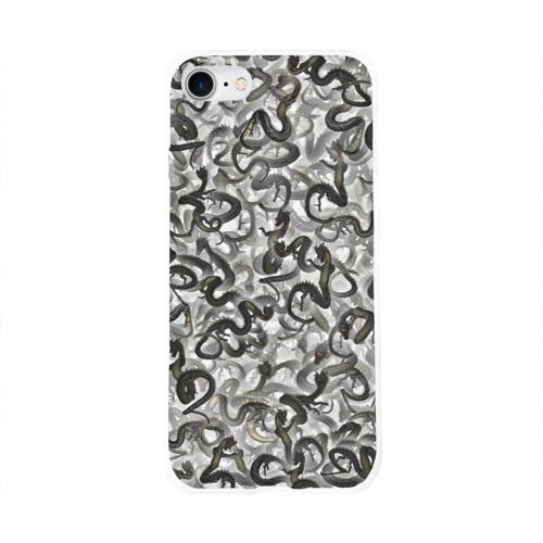 Чехол для Apple iPhone 8 силиконовый глянцевый  Фото 01, Китайские драконы