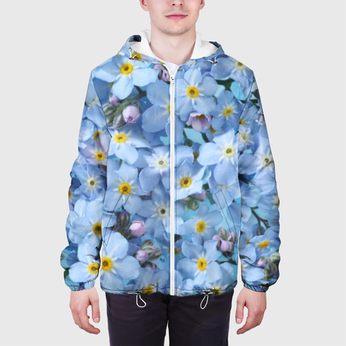 Мужская куртка 3D Незабудки Фото 01