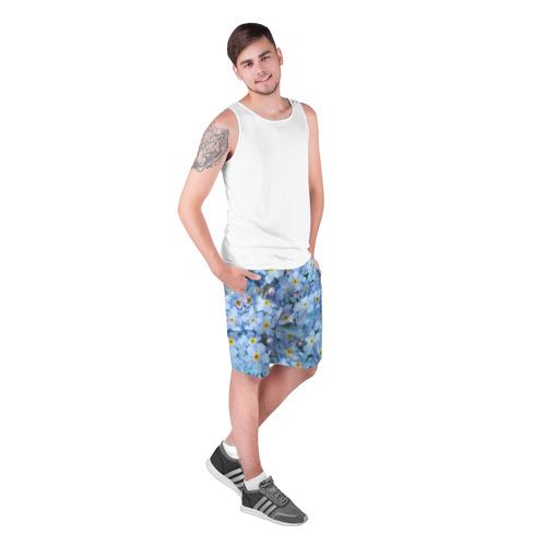 Мужские шорты 3D  Фото 03, Незабудки