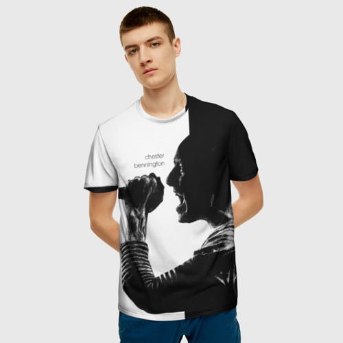 Мужская футболка 3D Chester Bennington Фото 01