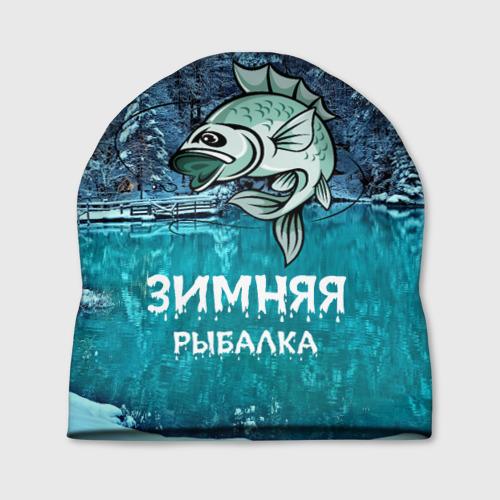 Шапка 3D Зимняя рыбалка