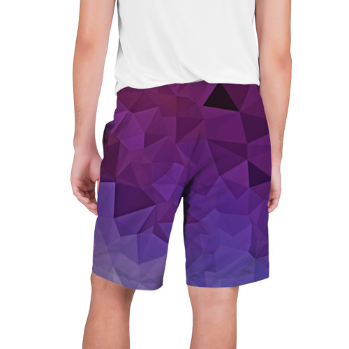 Мужские шорты 3D  Фото 02, Фиолетовые грани