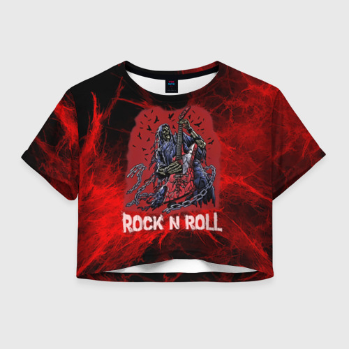 Женская футболка Cropp-top Мертвый гитарист
