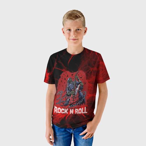 Детская футболка 3D Мертвый гитарист
