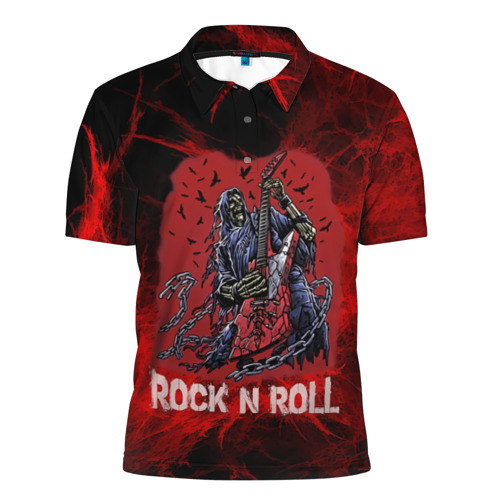 Мужская рубашка поло 3D Мертвый гитарист