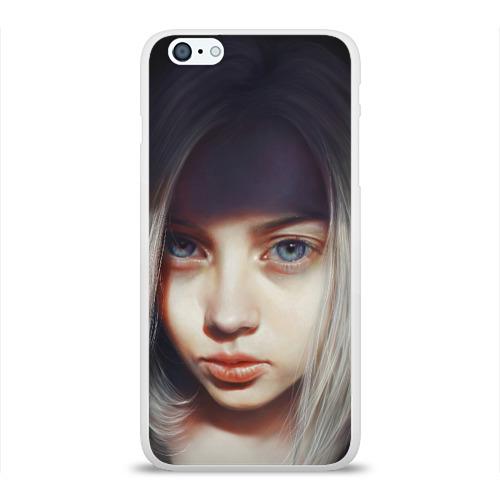 Чехол для Apple iPhone 6Plus/6SPlus силиконовый глянцевый  Фото 01, голубые глаза