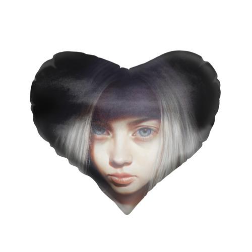 Подушка 3D сердце  Фото 01, голубые глаза