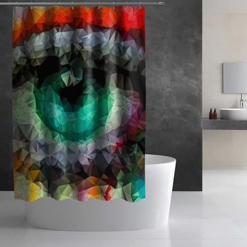 Штора 3D для ванной eyes swag Фото 01