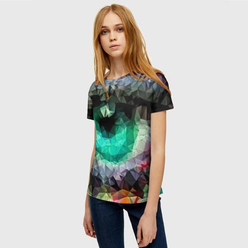 Женская футболка 3D eyes swag Фото 01