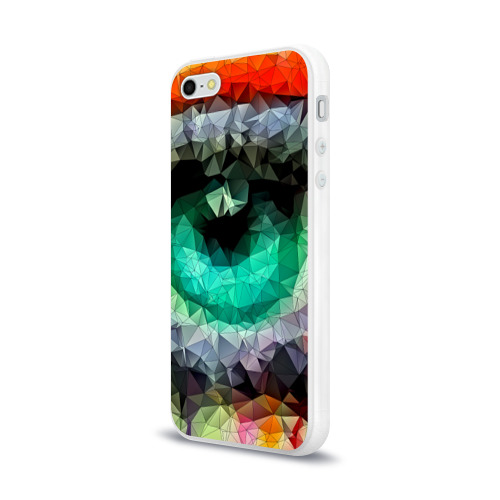 Чехол для Apple iPhone 5/5S силиконовый глянцевый eyes swag Фото 01