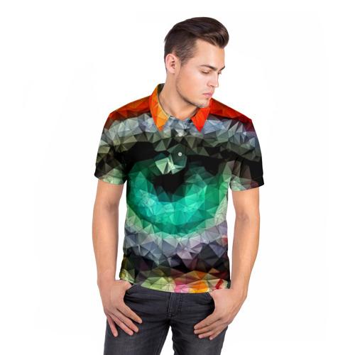 Мужская рубашка поло 3D eyes swag Фото 01