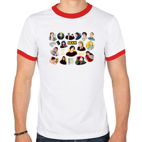 Мужская футболка рингер  Фото 01, SKAM 9