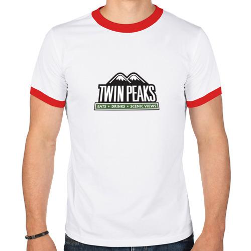 Мужская футболка рингер  Фото 01, Twin Peaks Горы