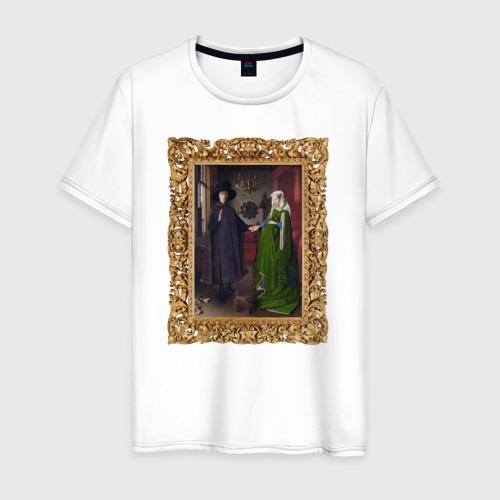 Мужская футболка хлопок Портрет четы Арнольфини
