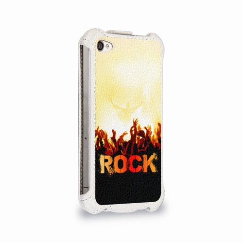 Чехол для Apple iPhone 4/4S flip  Фото 02, Rock концерт