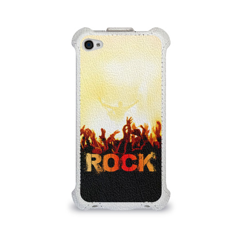 Чехол для Apple iPhone 4/4S flip  Фото 01, Rock концерт