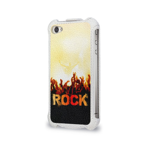 Чехол для Apple iPhone 4/4S flip  Фото 03, Rock концерт