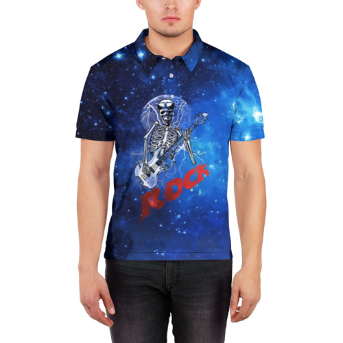 Мужская рубашка поло 3D  Фото 03, Мертвый гитарист