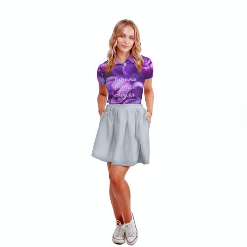 Женская рубашка поло 3D  Фото 04, Лучшая в мире бабуля