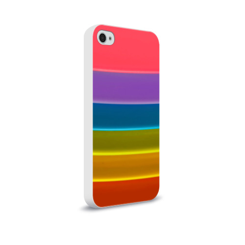Чехол для Apple iPhone 4/4S soft-touch  Фото 02, Полосы