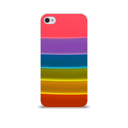 Чехол для Apple iPhone 4/4S soft-touch  Фото 01, Полосы