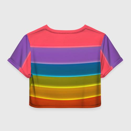 Женская футболка 3D укороченная  Фото 02, Полосы