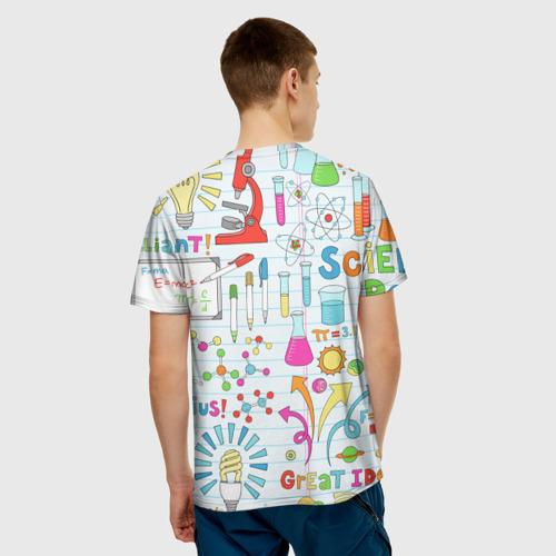 Мужская футболка 3D Стикеры Наука Фото 01
